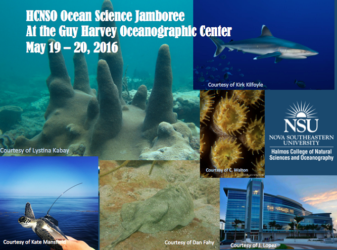 HCNSO Ocean Science Jamboree (May 19-20, 2016)