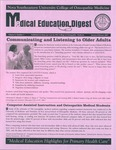 Medical Education Digest, Vol. 9 No. 1