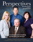 Perspectives Inaugural Issue Winter-Spring 2013 by College of Health Care Sciences