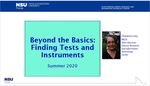 Beyond the Basics: Finding Tests and Measurements by Charlene C. Cain