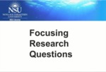 Focusing Research Questions