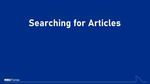 Searching for Articles by Sarah Cisse