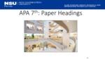 APA 7th Heading Levels by Melissa Maria Johnson