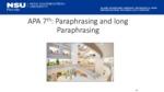 APA 7th Paraphrasing by Melissa Maria Johnson