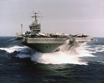 Aircraft Carrier out to sea by Courtesy of the Naval Air Station Fort Lauderdale Museum