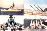 4 picture Montage of a Naval Ship by Courtesy of the Naval Air Station Fort Lauderdale Museum