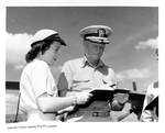 Admiral Nimitz Signing WAVEs Journal_Hawaii by Courtesy of the Naval Air Station Fort Lauderdale Museum