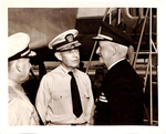 Admiral Nimitz and other Naval Officers_1945 by Courtesy of the Naval Air Station Fort Lauderdale Museum