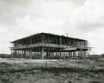 Early construction of the Edwin M. and Ester L. Rosenthal Student Center, circa 1960
