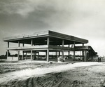 Early construction of the Edwin M. and Ester L. Rosenthal Student Center, 1967