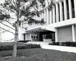 Exterior view of the north entrance of the Mailman/Hollywood building, circa 1970