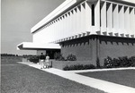 South entrance of the Edwin M. and Ester L. Rosenthal Student Center, circa 1970