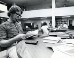 Student at Einstein Library in Mailman/Hollywood