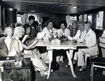 Royal Dames on board Theresa Castro yacht Southern Trail for a Fall meeting. In photograph left to right: Dorothy Frederick, Mary Rose Johnson, Sugi Clarke, Bee Hodges, Theresa Castro (President of the Royal Dames), Dolly Granatelli, Donna Castro, Ruth Schmidt and Dorothy Vance