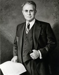 Reproduction of a full portrait of Leo Goodwin Sr. (1886-1971), founder of GEICO (Government Employees Insurance Company) and member of the Nova Board of Directors