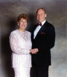 Color portrait of Abraham S. Fischler, who served as the second President (1970-1992) of what was formerly known as Nova University, and his wife Shirley Fischler. In 1994, Nova University merged with Southeastern University of the Health Sciences to form Nova Southeastern University