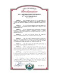 City of Weston Proclamation