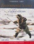 Environmental Science: A Global Concern, 6th edition by William P. Cunningham, Barbara Woodworth Saigo, and Barry W. Barker